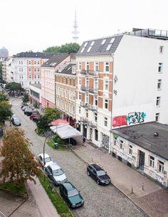 Ausblick auf das Leben in der Schanze in Hamburg.