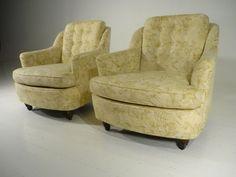 2 Mid Century 60's Modern Barrel Back Lounge Chairs Henredon/Dunbar/Baker Era #MidCenturyModern