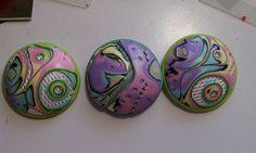Polymer Clay Mokume Gane Pendants