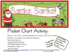 This is another of my Pocket Chart Poetry Sets that includes:A colorful headerPocket Chart sentencesGraphics cards to match sentencesNumbers and number wordsPrintable blackline master of entire poem with elements to color.