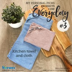 No amount of kitchen mess or liquid spill is too much for the grabbing and absorbent power of the #norwex kitchen cloth and towel. I use the cloth everyday to wipe over the benches, dining table, stove top, microwave and more without the need for harsh chemicals, just water. Because of the antibacterial properties in the cloth, unlike regular microfibre cloths, or #chux cloths that you continually throw out, these cloths don't get smelly. The kitchen towel I use as a hand towel and for…