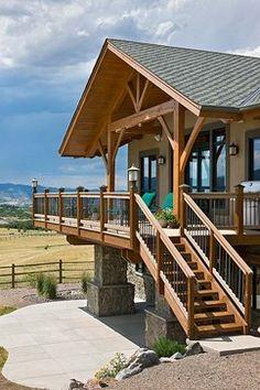 Kula House - traditional - exterior - denver - Mountain Timber Design, Inc.