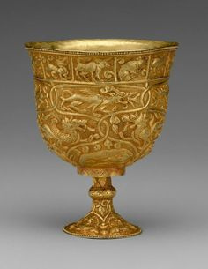 Stem Cup, Period of Tibetan Empire, 7th–9th century, China (Xinjiang Autonomous Region, Central Asia)