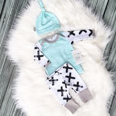 Modern X Baby Boy Coming Home Outfit with by SnugAsaBugClothes
