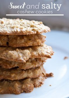 These salty, sweet, crunchy cashew cookies will be gone before you know it!