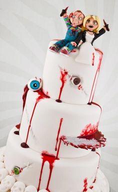 Creepy weeding cake!