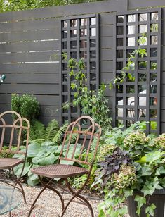 A Brooklyn Garden Makeover & Mirrored Trellis Small Courtyard Gardens, Small Courtyards, Terrace Garden, Backyard Retreat, Backyard Landscaping, Trellis Panels, Boho Deco, Boho Chic, Garden Mirrors