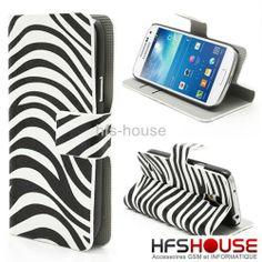 Coque Houss Etui Cuir Pour Samsung Galaxy S4 Mini Zebra Leather Case Hoes | eBay