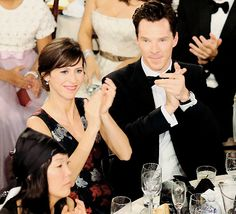 """ Benedict Cumberbatch and Sophie Hunter at the 72nd annual Golden Globe Awards show. """