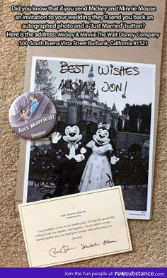 Invite mickey and minnie to your wedding