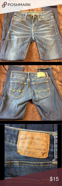American eagle 🦅 blue jeans Gently worn in good condition. Comes from a smoke free home and is free of rips stains and tears. Bundle and save American Eagle Outfitters Jeans Skinny