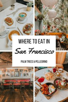 Love good food but also looking for a photo op? We're sharing our list of the best San Francisco restaurants to visit that are also Instagrammable. Food In San Francisco, San Francisco Shopping, San Francisco Restaurants, San Francisco Travel, Seafood Menu, Seafood Restaurant, Tater Tot Waffle, Northern California Travel, Crispy Brussel Sprouts