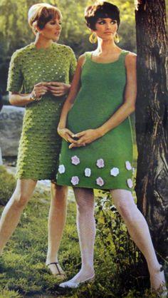 Green Fashion. 1960's. Deidra Peacock Brocké Wallace