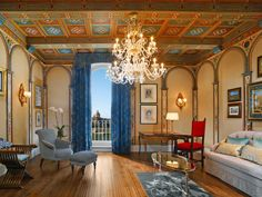 Why you love it: You'll find super-grand guest rooms at this fifteenth-century former palace on the Piazza Ognissanti, overlooking the Arno River. Artwork, custom frescoes, antiques, crystal chandeliers, and warm hues decorate rooms. The restaurant showcases Tuscany's flavors, while tasting sessions take place in the wine cellar, created from an actual cave. The full butler service includes an eButler feature—e-mail requests you can zip off around the clock.