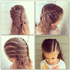 Waves from yesterday's braids and more braids today! What is your favorite braid? Baby Girl Hairstyles, Kids Braided Hairstyles, Princess Hairstyles, Pretty Hairstyles, Girl Hair Dos, Girls Braids, Toddler Hair, Hair Today, Her Hair