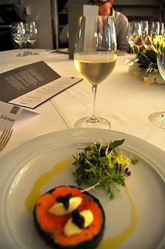 Pairing Wine and salmon steak, the perfect dinner.