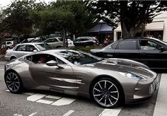 Grey Aston Martin. Luxury, amazing, fast, dream, beautiful,awesome, expensive, exclusive car.