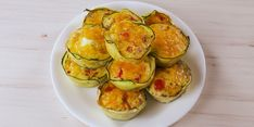 Zucchini egg cups... omit cheese and heavy cream to make Whole 30 compliant.