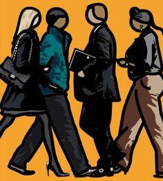 Julian Opie - Walking in the city 1.