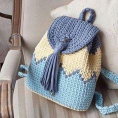 Marvelous Crochet A Shell Stitch Purse Bag Ideas. Wonderful Crochet A Shell Stitch Purse Bag Ideas. Crochet Backpack Pattern, Free Crochet Bag, Crochet Shell Stitch, Diy Crochet, Crochet Crafts, Crochet Stitches, Crochet Projects, Crochet Patterns, Crochet Ideas