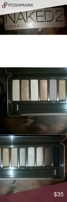 Urban Decay Naked 2 Palette Authentic like new excellent condition no brush only a few colors swatched or used once price firm Urban Decay Makeup Eyeshadow