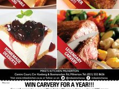 Mikes Kitchen Wonderpark - Win Carvery for a Year! Starters, Beef, Breakfast, Desserts, Kitchen, Food, City, Meat, Morning Coffee