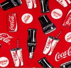 New COKE COCA COLA Bottles Cans Glasses Fleece fabric Blanket Material By the 1/2 Yard liscensed for Crafts, Quilts, clothing and Home Decor by BBCraftsCollectables on Etsy https://www.etsy.com/listing/497191261/new-coke-coca-cola-bottles-cans-glasses