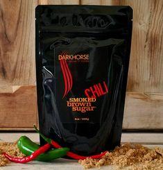 Darkhorse | CHILI Smoked Brown Sugar 8 Oz. Package | Ingredients: wood smoked sugar, chilli, invert sugar and cane molasses | By Darkhorse Specialty Foods, from Petaluma, CA | #WhatSugarBlog #DarkHorseSugar #vegan #glutenfree Specialty Foods, Edible Plants, Fun Cocktails, The Smoke, Brown Sugar, Chili, Bbq, Vegan, Baking
