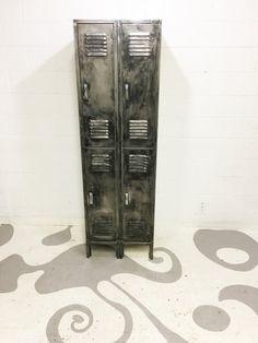 vintage industrial locker brushed metal locker with by dsartereno