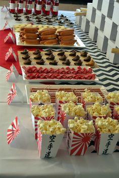 Karate Party Eats & Treats Table