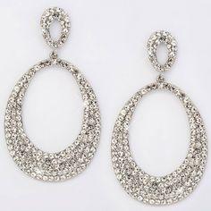 Pair of Chic CZ Water Drop Earrings