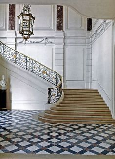grand Staircase in the Hotel De Lamarck, residence of the Belgian Ambassador to France