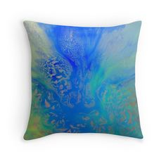 Calm Waters Abstract throw pillow by Tracey Lee Art Designs