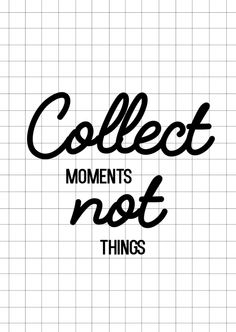 Kaartje Collect moments not things. Ontwerp: byBean. Je shopt 'm hier: http://www.bybean.nl/kaartjecollectmomentnotthings