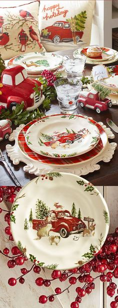 These are adorable Christmas dishes ~ and they are on sale right now, in time for the holidays. #Christmas #dishes #kitchenware #christmasdecor #vintage #ad