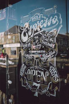Deli Espresso Window Sign on Behance