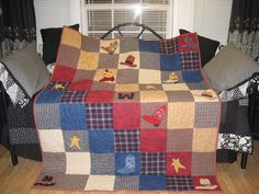 I made this quilt for our grandson for Christmas.
