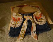 Jean purse orange floral