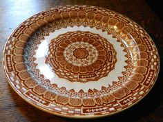 Antique Red or Brown Transferware Plate by GinasTreasureTrove, $42.50