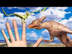 New Dinosaur Pteranodon Finger Family Nursery Rhyme for Kids Children Nu...