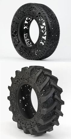 Craved Tires (fromhttp://design-milk.com) This would be cool for the tire stairs that I just pinned!