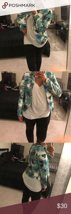 Blazer Floral green blazer ovi Jackets & Coats Blazers