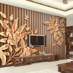 Wallpaper Mural Wood Carving Flower Wood Grain Simple Home Decor Wallpapers for Home Living Room Bedroom Indoor and TV Background Striped Wallpaper, Sea Decor, Simple Wall Decor, Wallpaper, Wall Decor Bedroom, Custom Photo Wallpaper, Home Wallpaper, Wall Art Designs, Mural Wallpaper