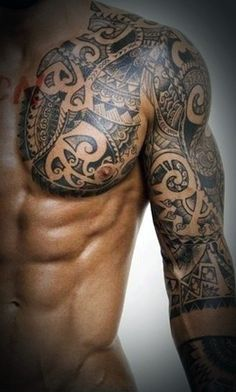 Tribal Chest Tattoos For Men                                                                                                                                                                                 Más