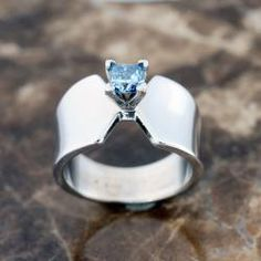 Solitaire Ring setting for radiant cut cremation diamonds