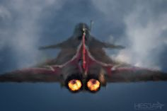 Rafale Solo Display by Hesja Air Photography. Check this guy's work out, it is amazing. www.hesja.pl