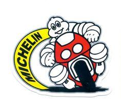 Bibendum on a motorcycle Michelin Man, Michelin Tires, Vintage Signs, Vintage Posters, Tyre Companies, Motorcycle Art, Retro Ads, Universe Art, Vintage Racing