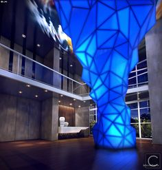 Escultura iluminada - puro Design Projeto BHD Pinheiros