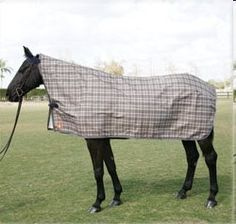 """Baker Rain Cover - Original Plaid - 84"""" X 90"""" by Baker. $84.95. The original Baker plaid makes this waterproof/breathable 1,200 denier polyester rain cover as classic as it is funtional. A form-fitting neck line and darting give your horse a fashionable fit while keeping him dry! Imported."""