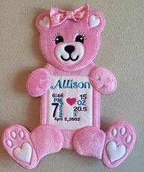 Bear Door Hanger - 5 Sizes! | What's New | Machine Embroidery Designs | SWAKembroidery.com Nobbie Neez Kids
